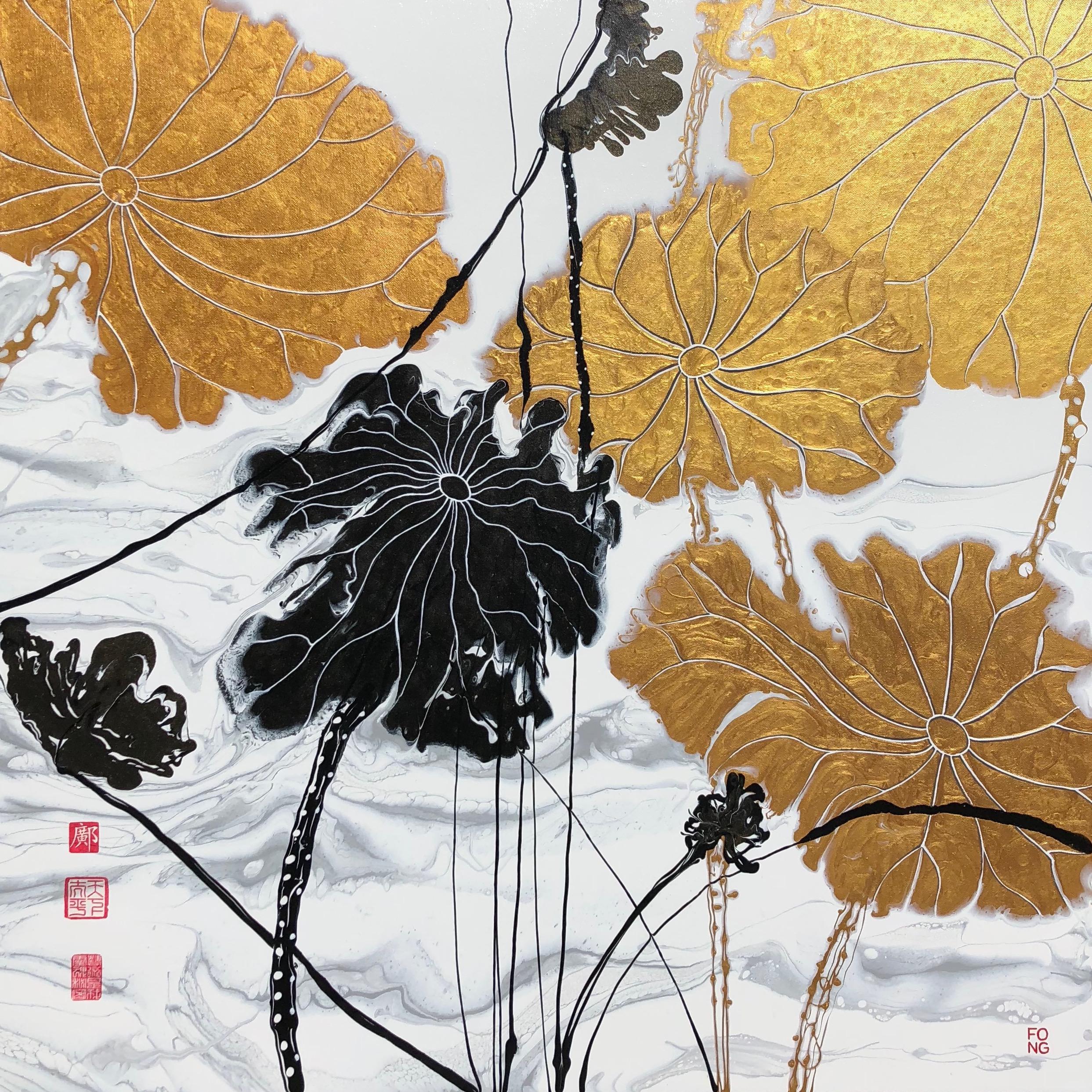 Golden Lotus Leaves II