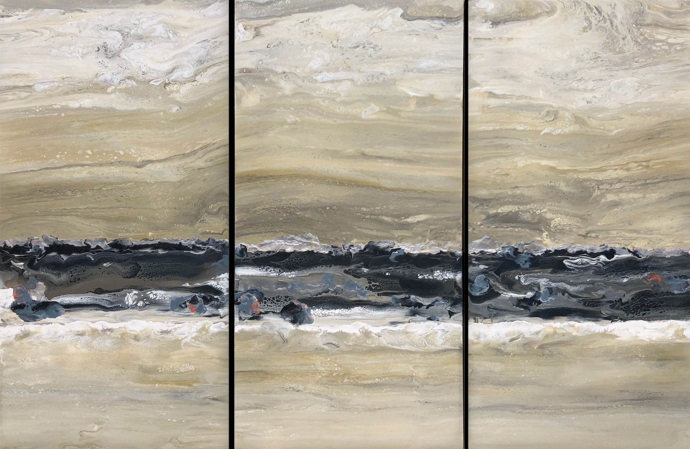 Lateral Flow triptych